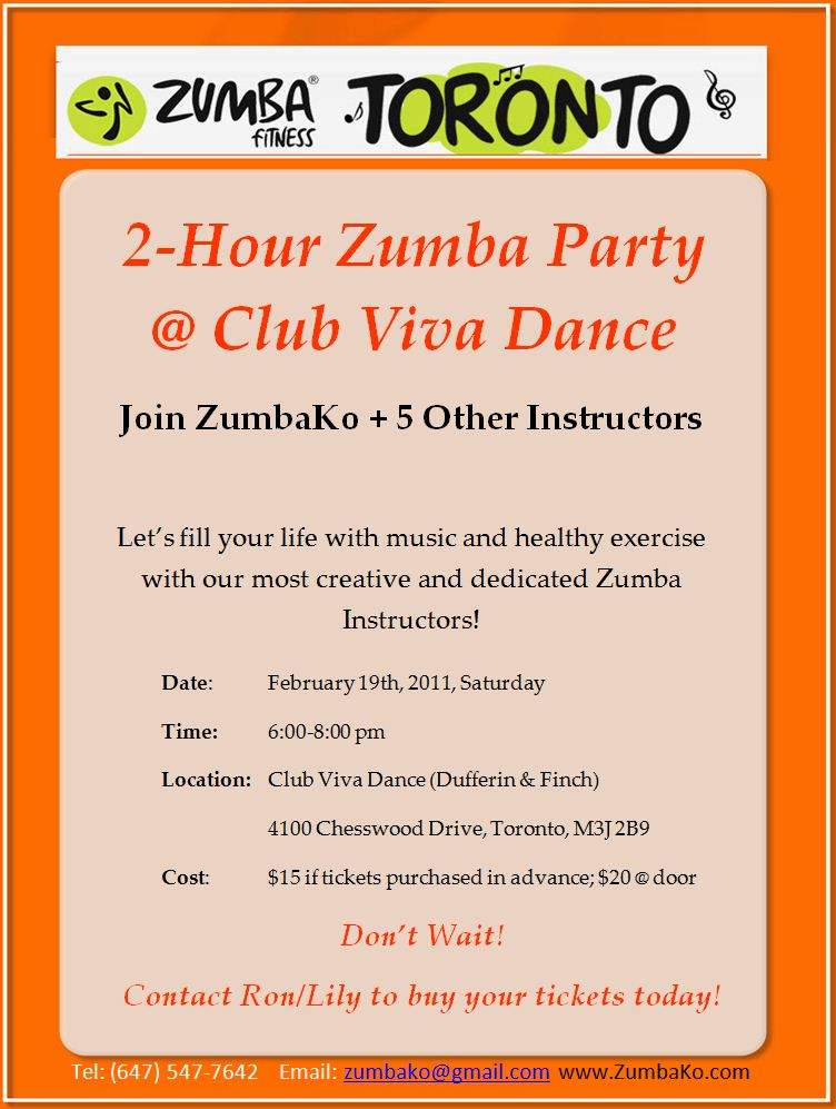 Club Viva Zumbathon Party @ Feb 19, 2011