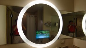 TV inside the mirror!