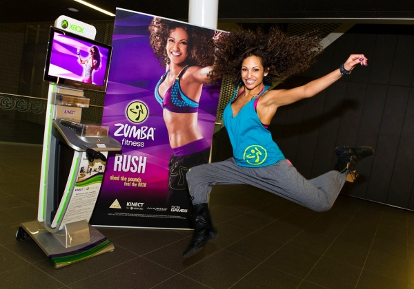 Gina-Zumba Rush jumping