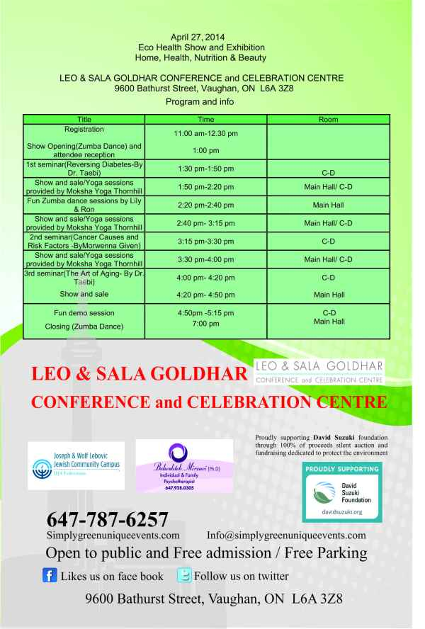 Eco Health 2014 Flyer 2