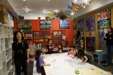Kendall 4yo Birthday Painting Party 001