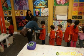 Kendall 4yo Birthday Painting Party 021