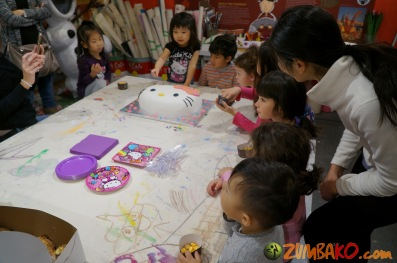 Kendall 4yo Birthday Painting Party 074