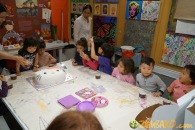 Kendall 4yo Birthday Painting Party 081