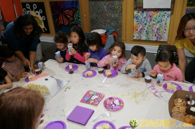 Kendall 4yo Birthday Painting Party 096