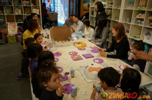 Kendall 4yo Birthday Painting Party 098