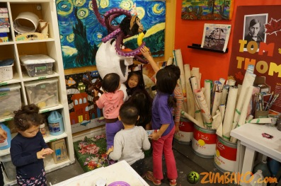 Kendall 4yo Birthday Painting Party 110