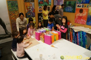 Kendall 4yo Birthday Painting Party 129