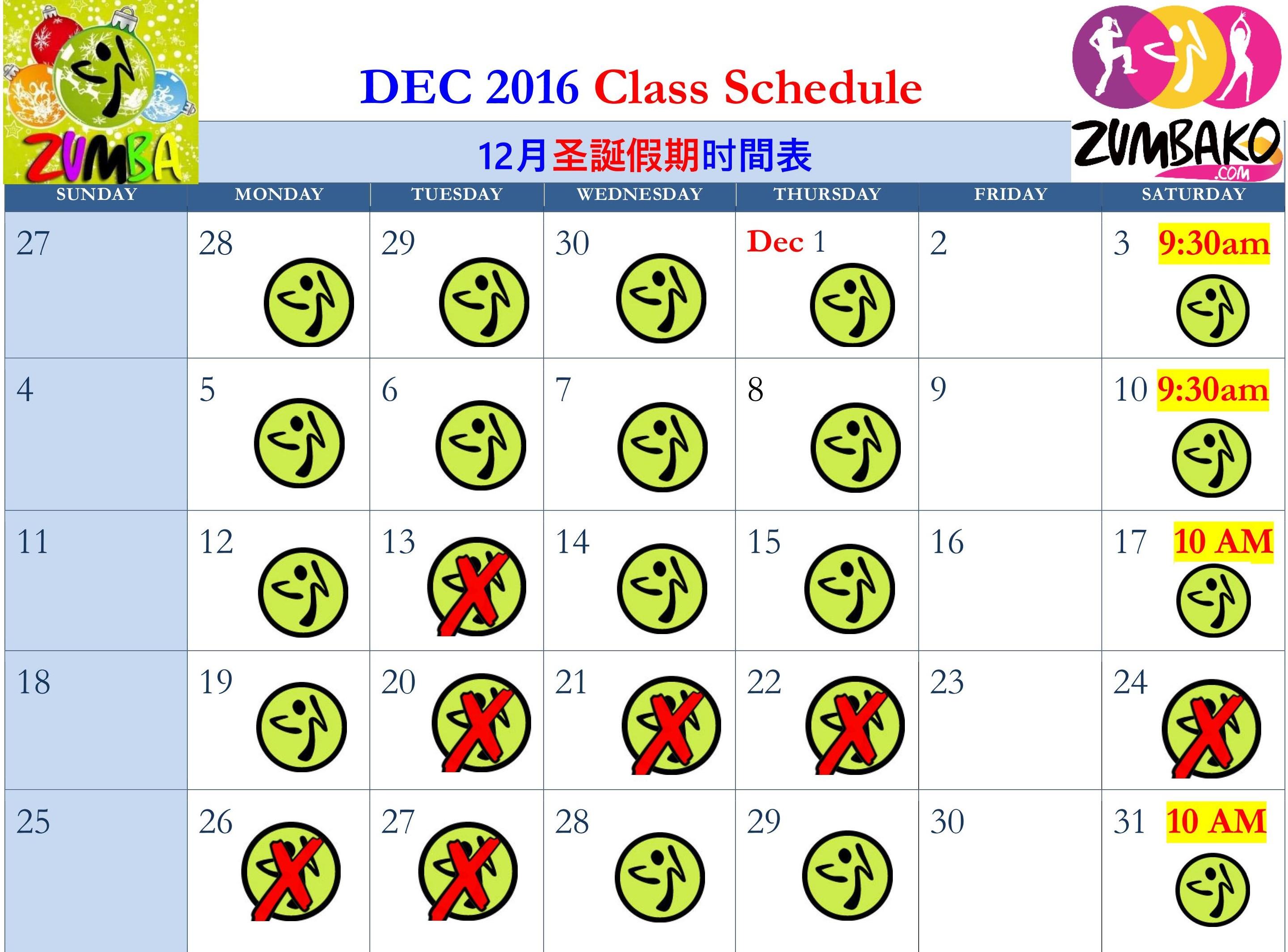 zko-2016-christmas-schedule03 | Zumba® Fitness in Richmond Hill ...